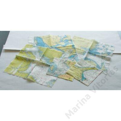 Szalvéta térképmintával - Mön