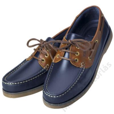 CREW férfi deckcipő navy/barna