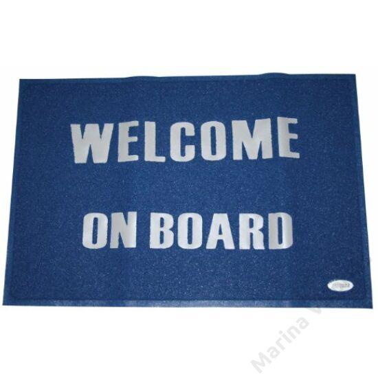 """Lábtörlő """"Welcome on Board"""" 40x60cm, kék"""