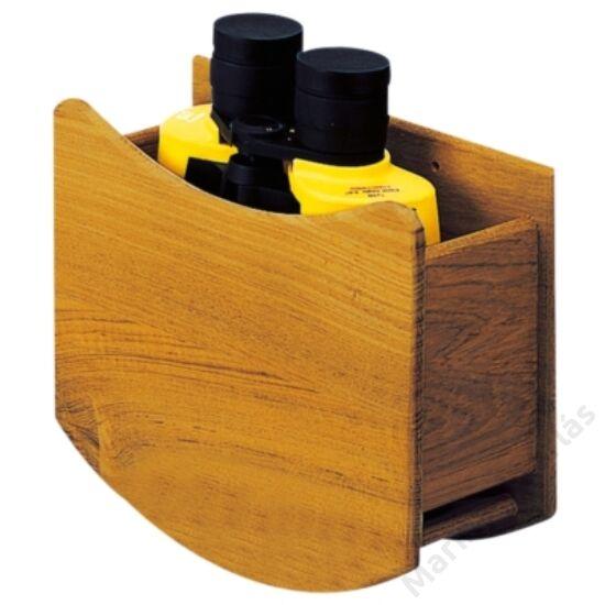 Távcsőtartó teak doboz