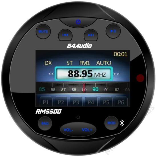 Vízálló marine bluetooth rádió, FM-USB